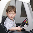 Henry in His Police Car