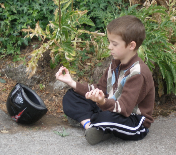 Boymeditating